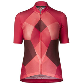 Mavic Sequence Pro Bike Jersey Shortsleeve Women pink/red